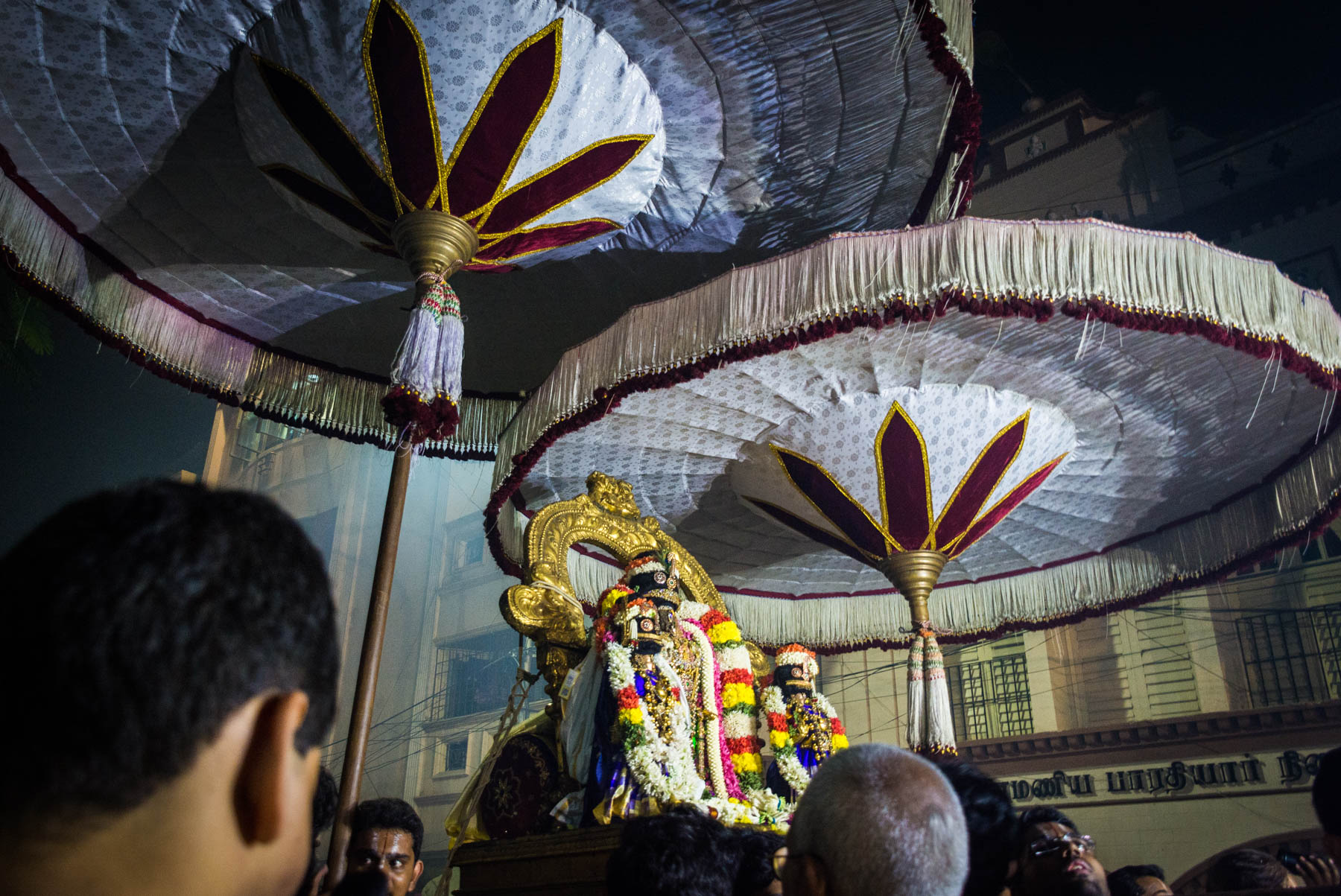 The statue of the god Parthasarathy while celebrating Diwali in Chennai, India - Lost With Purpose