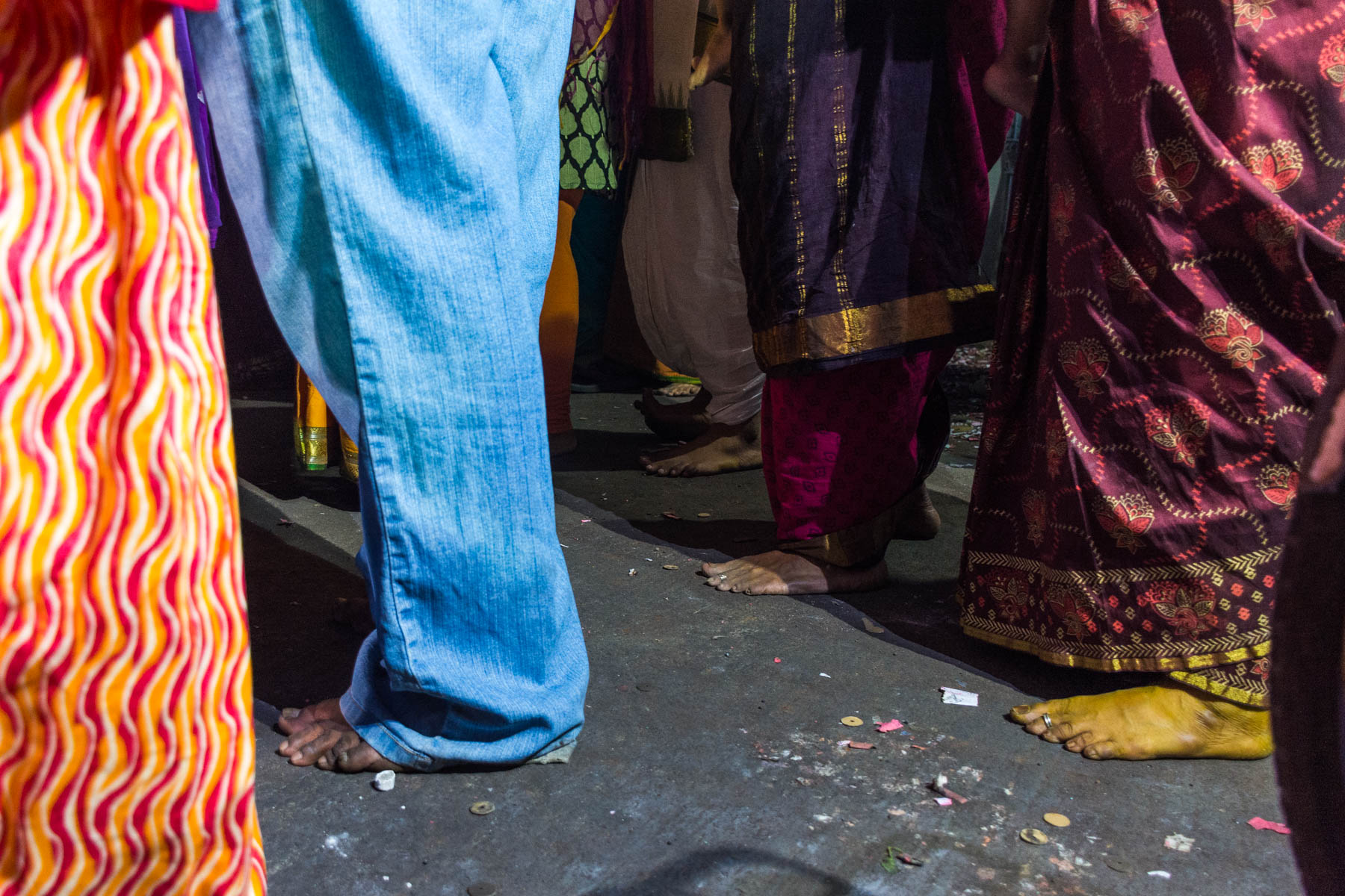 Barefoot onlookers celebrating Diwali in Chennai, India - Lost With Purpose