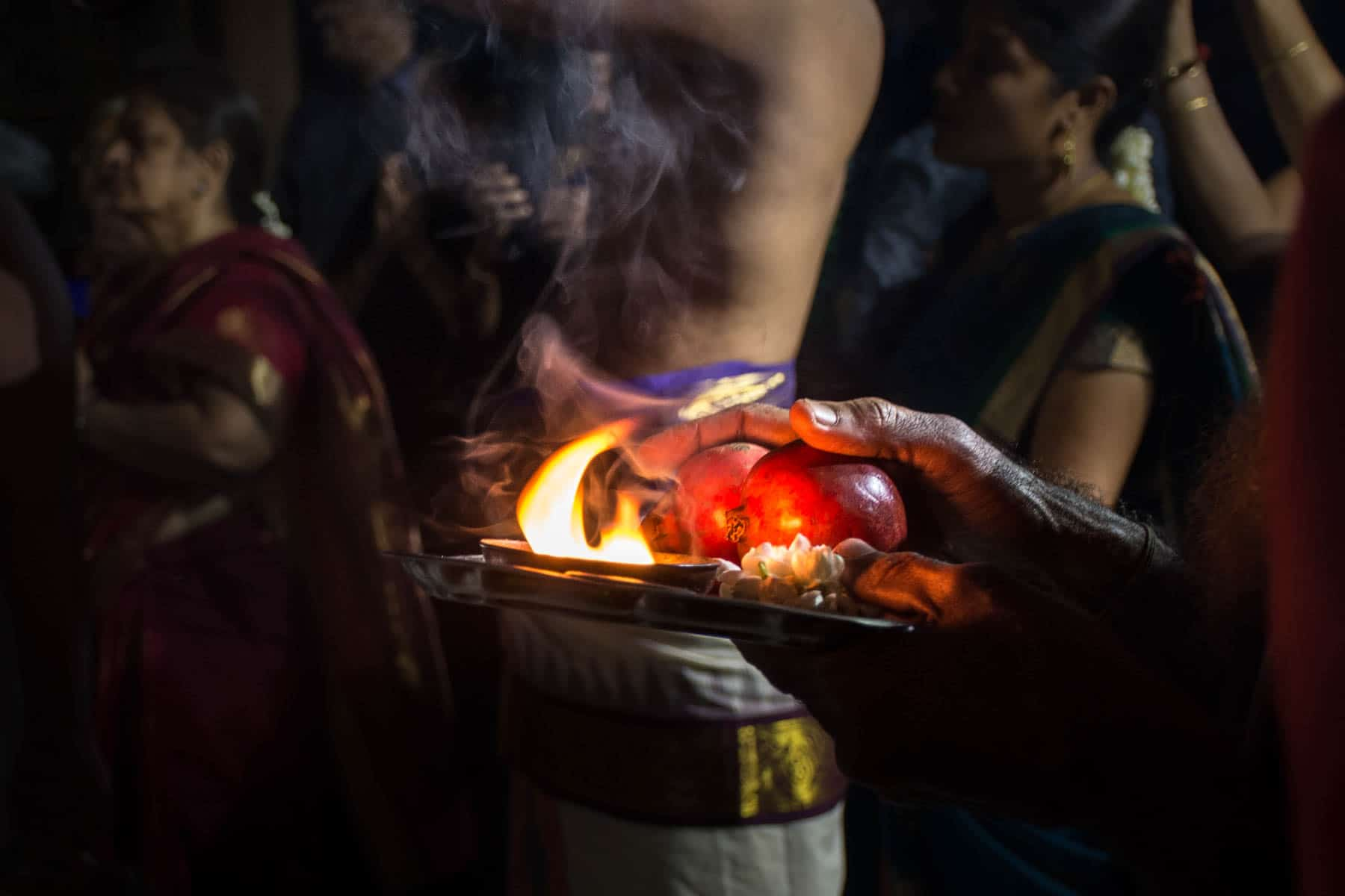 An offering for the god while celebrating Diwali in Chennai, India - Lost With Purpose
