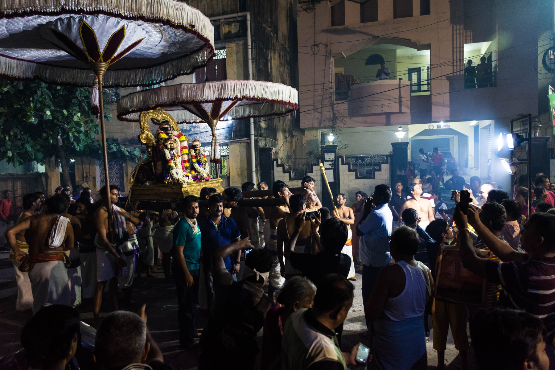 Parthasarathy's procession while celebrating Diwali in Chennai, India - Lost With Purpose