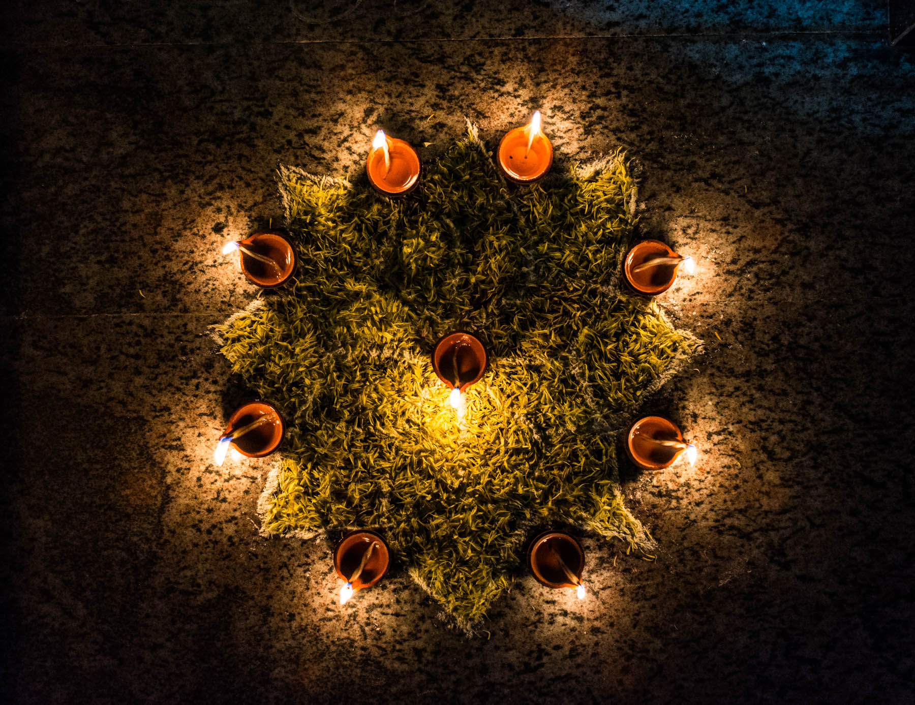 A pattern of lights during Diwali in Chennai, India - Lost With Purpose