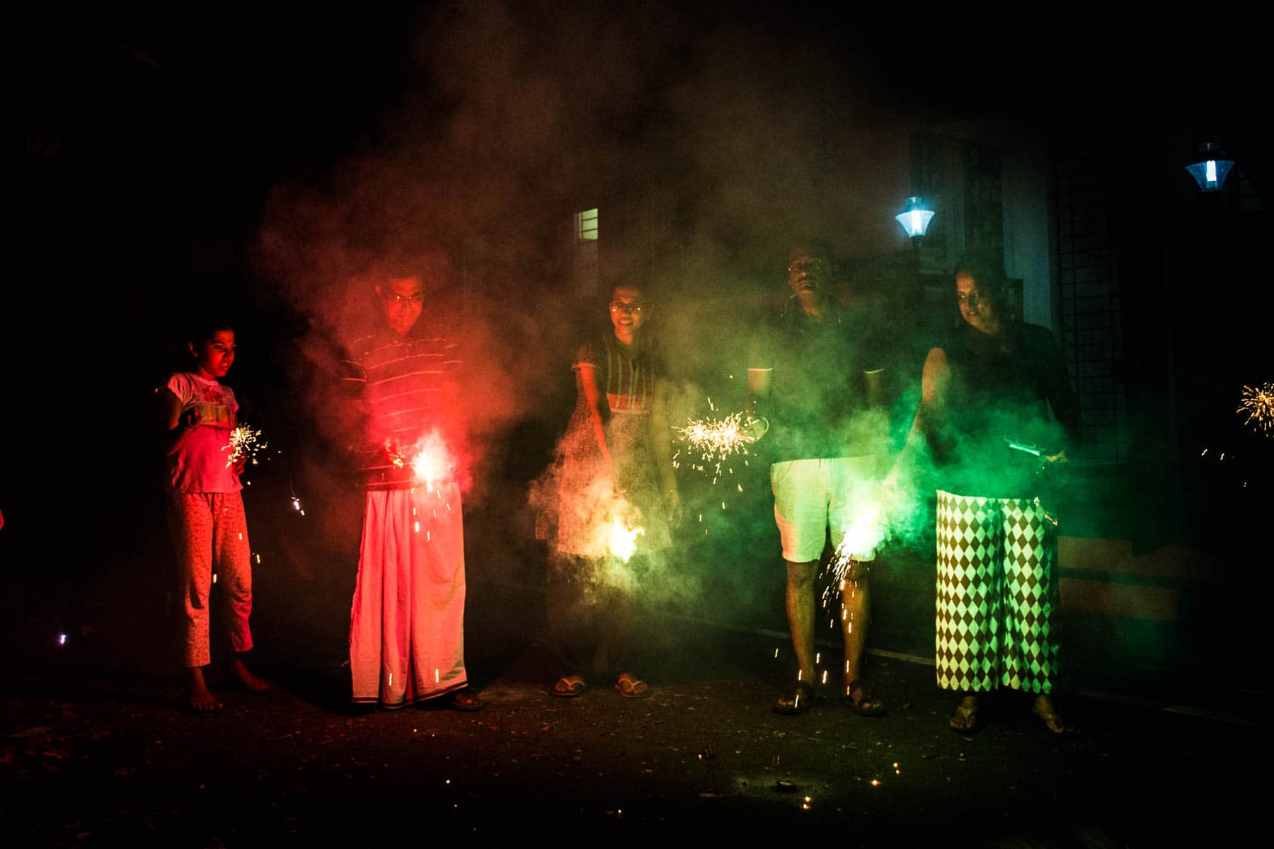 A family celebrating Diwali in Chennai, India - Lost With Purpose