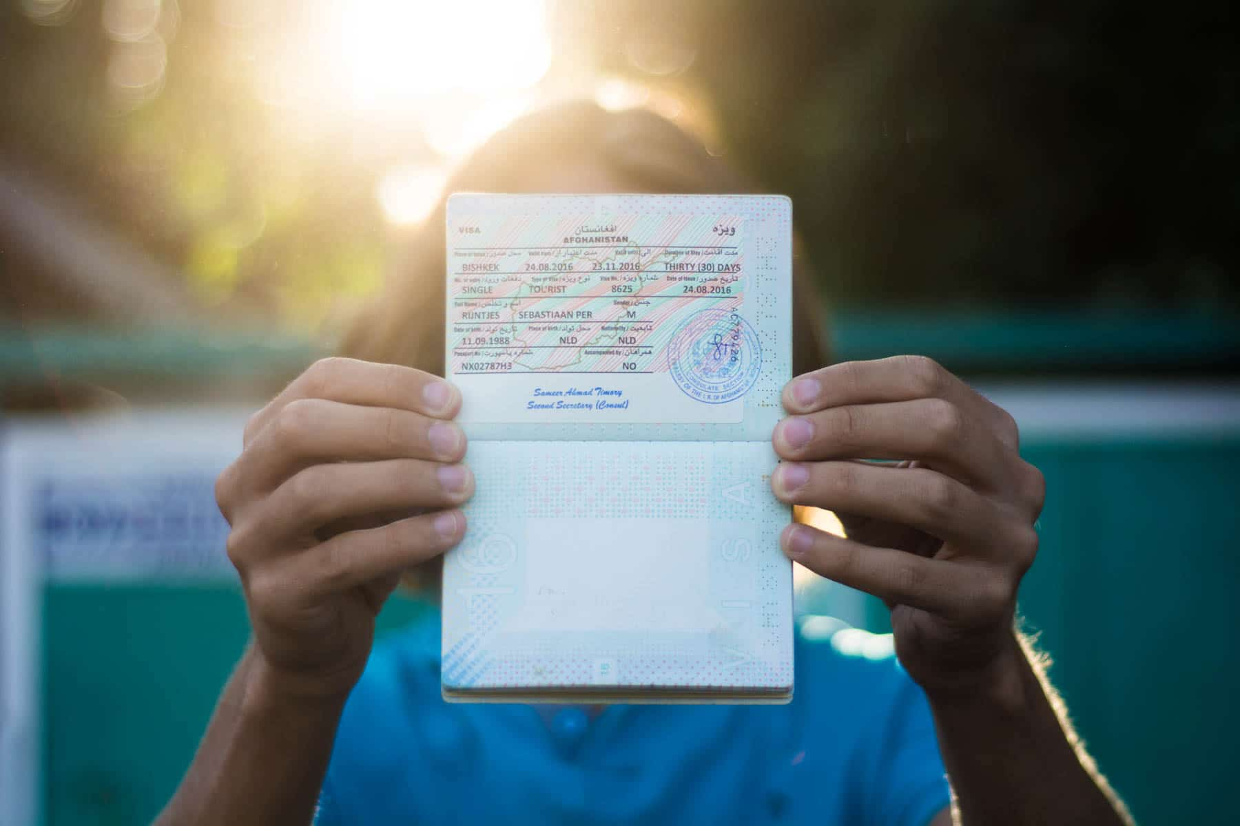Applying for an Afghanistan visa - Lost With Purpose
