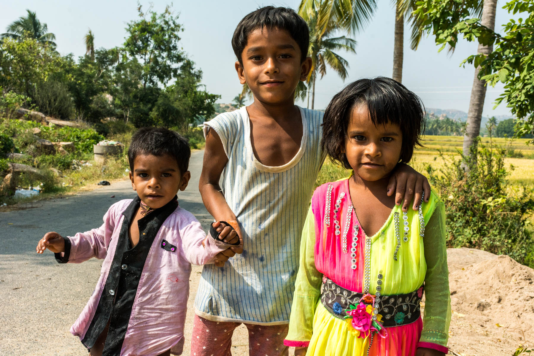 Children on the street in Hampi, India - Lost With Purpose