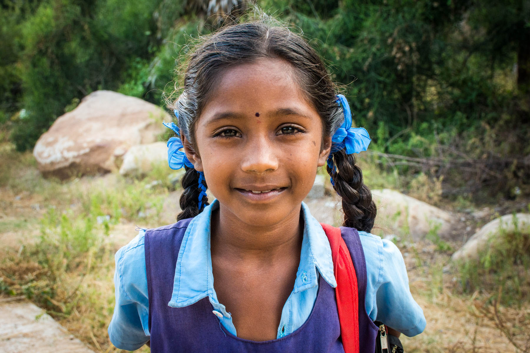 Schoolgirl in Hampi, India - Lost With Purpose