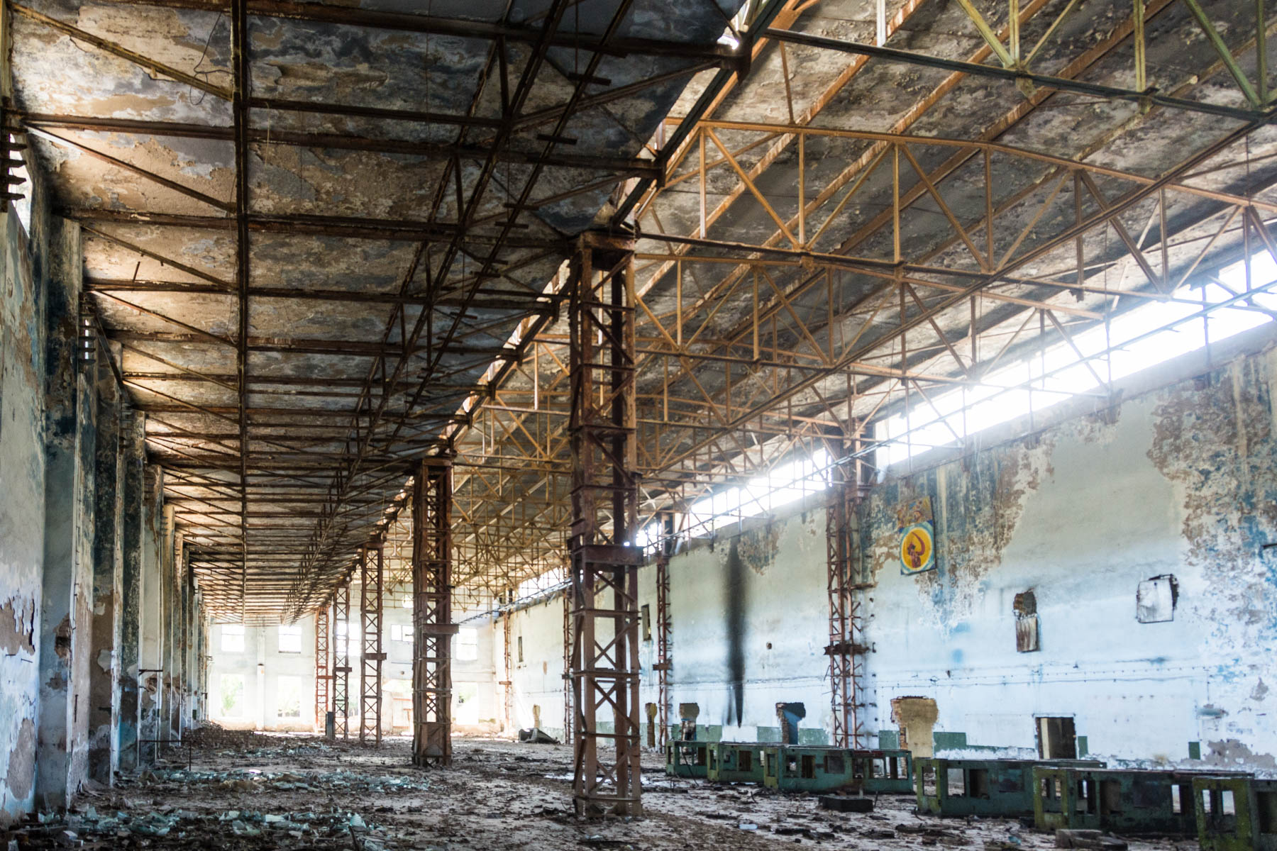 Abandoned Soviet factory interior in Min Kush, Kyrgyzstan - Lost With Purpose