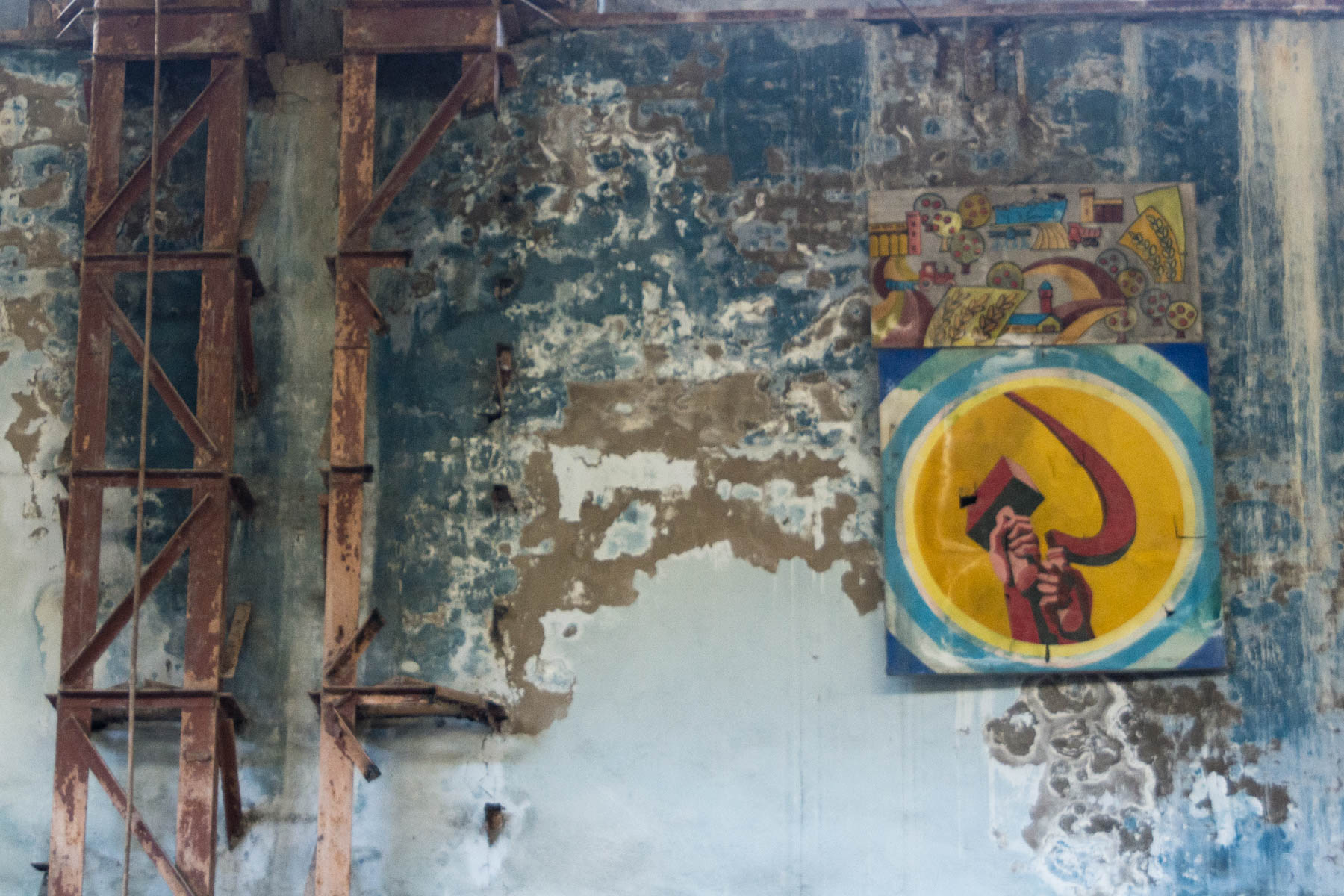 Soviet leftovers in an abandoned factory in Min Kush, Kyrgyzstan - Lost With Purpose