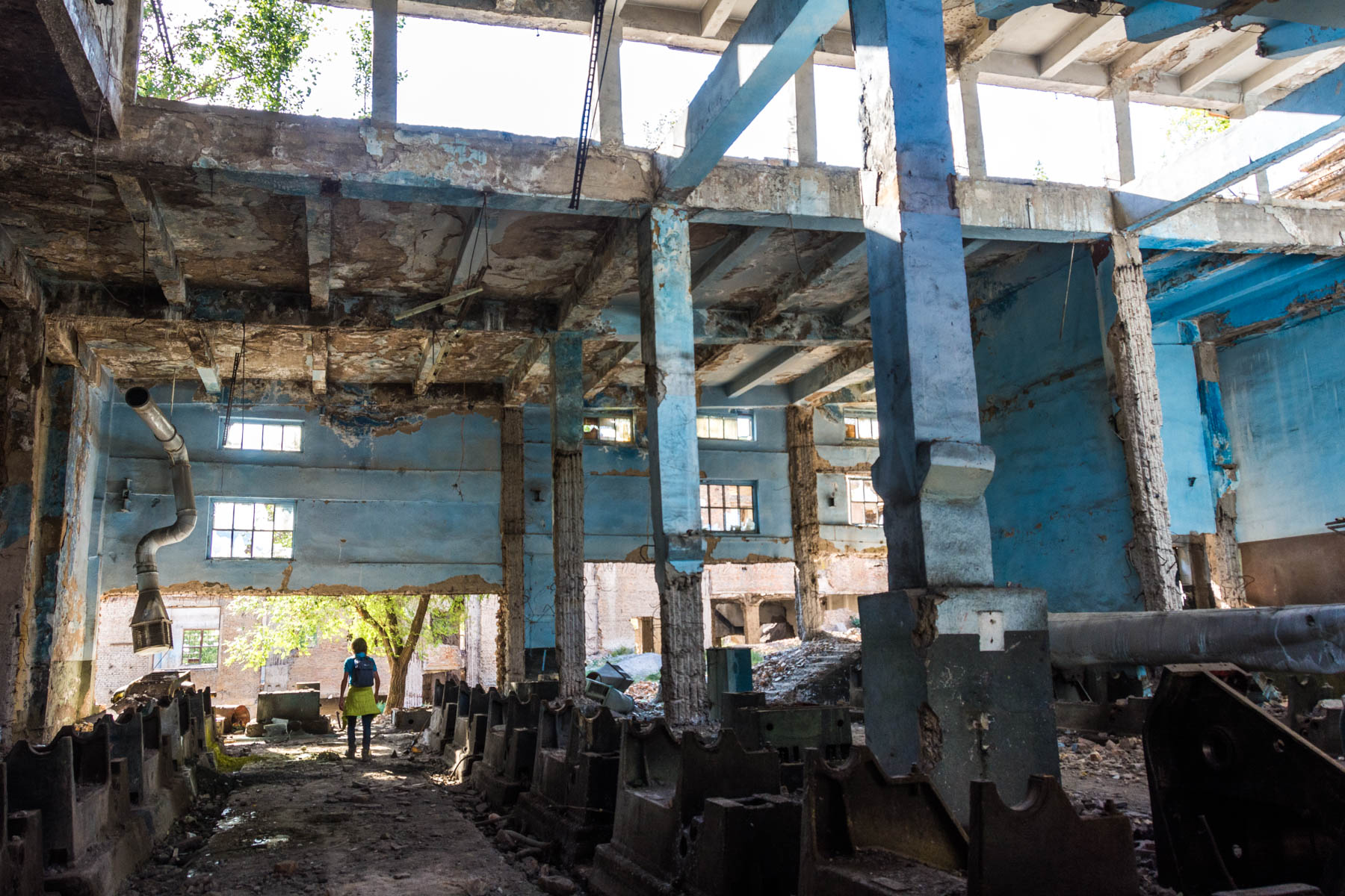 A room of strange machines in an abandoned Soviet factory near Min Kush, Kyrgyzstan - Lost With Purpose