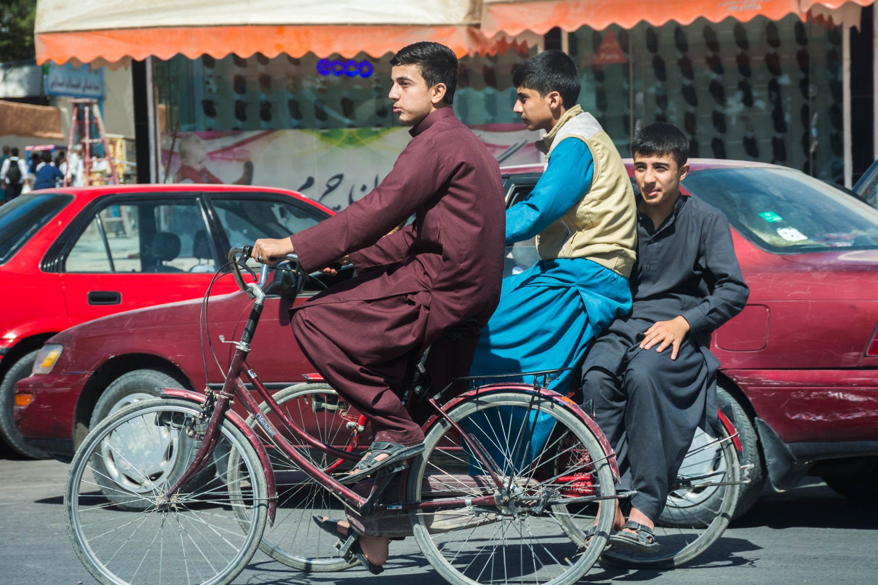 Boys biking in Herat, Afghanistan - Lost With Purpose
