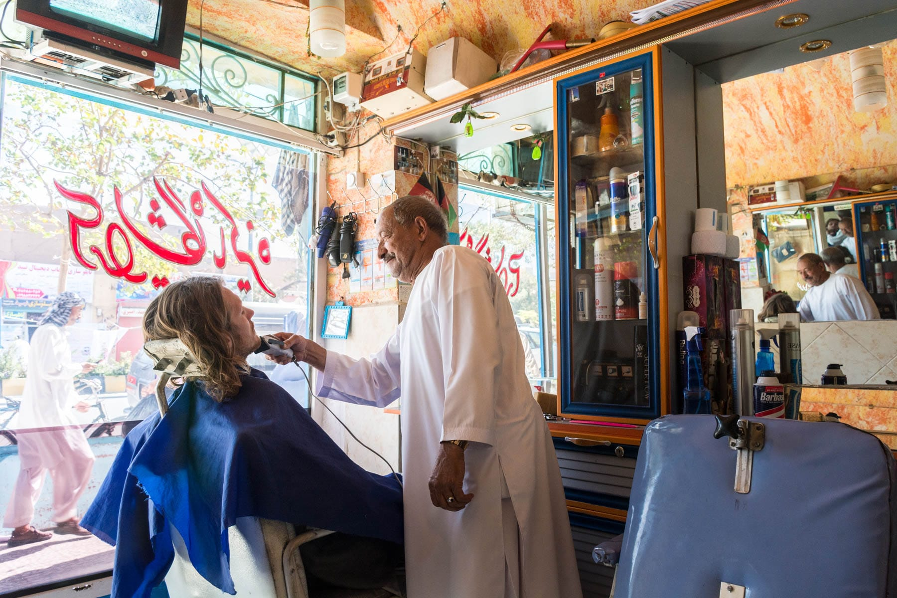 Getting a straight razor shave in Herat, Afghanistan for less than $1 - Lost With Purpose