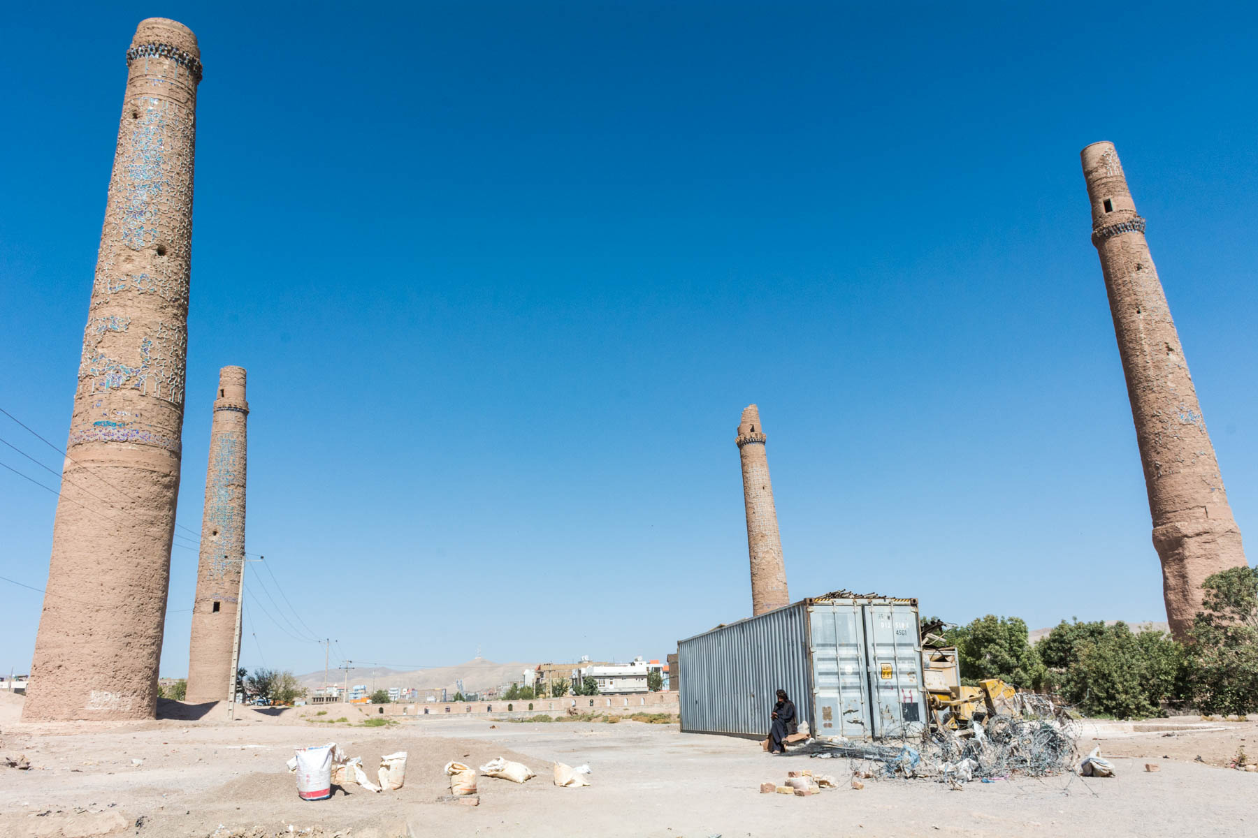 The last of the minarets in the Musalla complex in Herat, Afghanistan