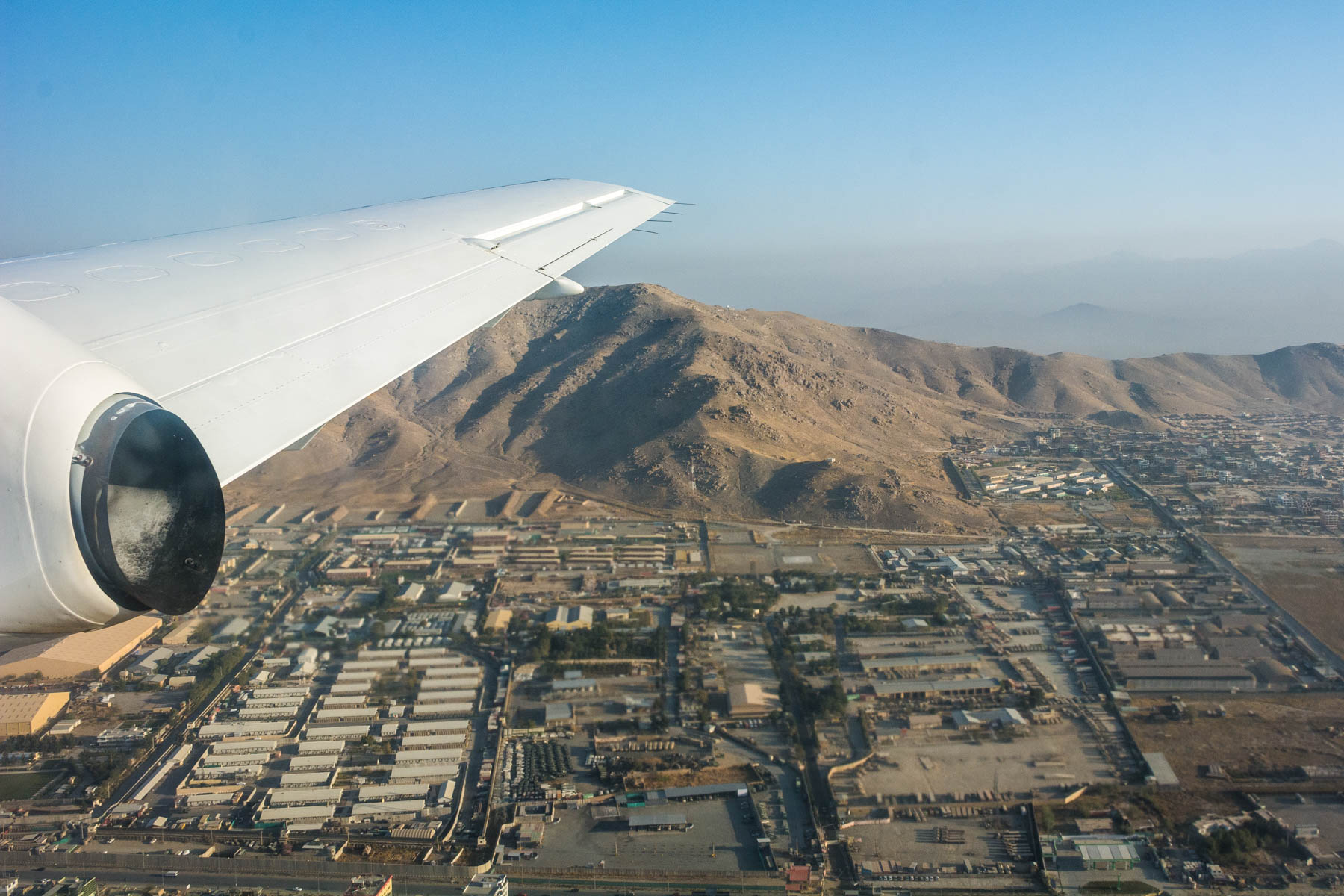 Flying away from Kabul, Afghanistan - Lost With Purpose