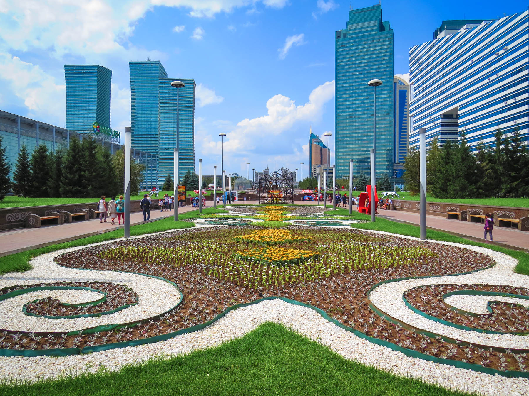 Things to do in Astana, Kazakhstan - The City Walk gardens