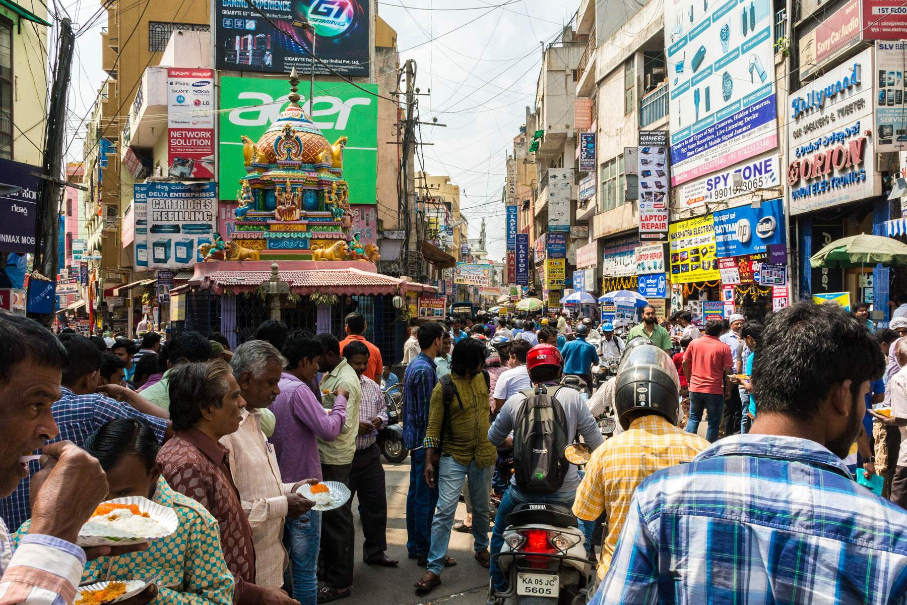 Only men on the street in Bangalore, India - Lost With Purpose