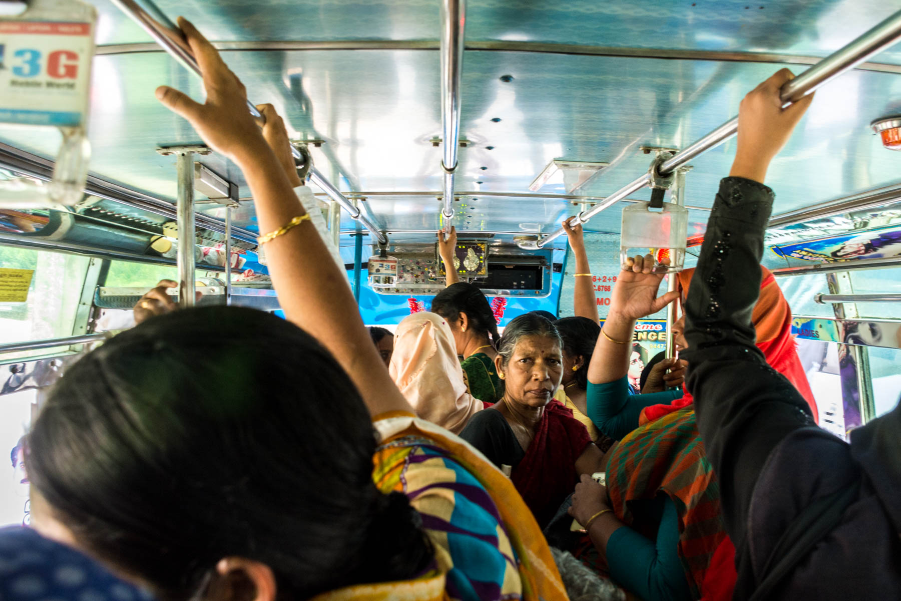 A crowded public bus in Kalpetta, India - Lost With Purpose