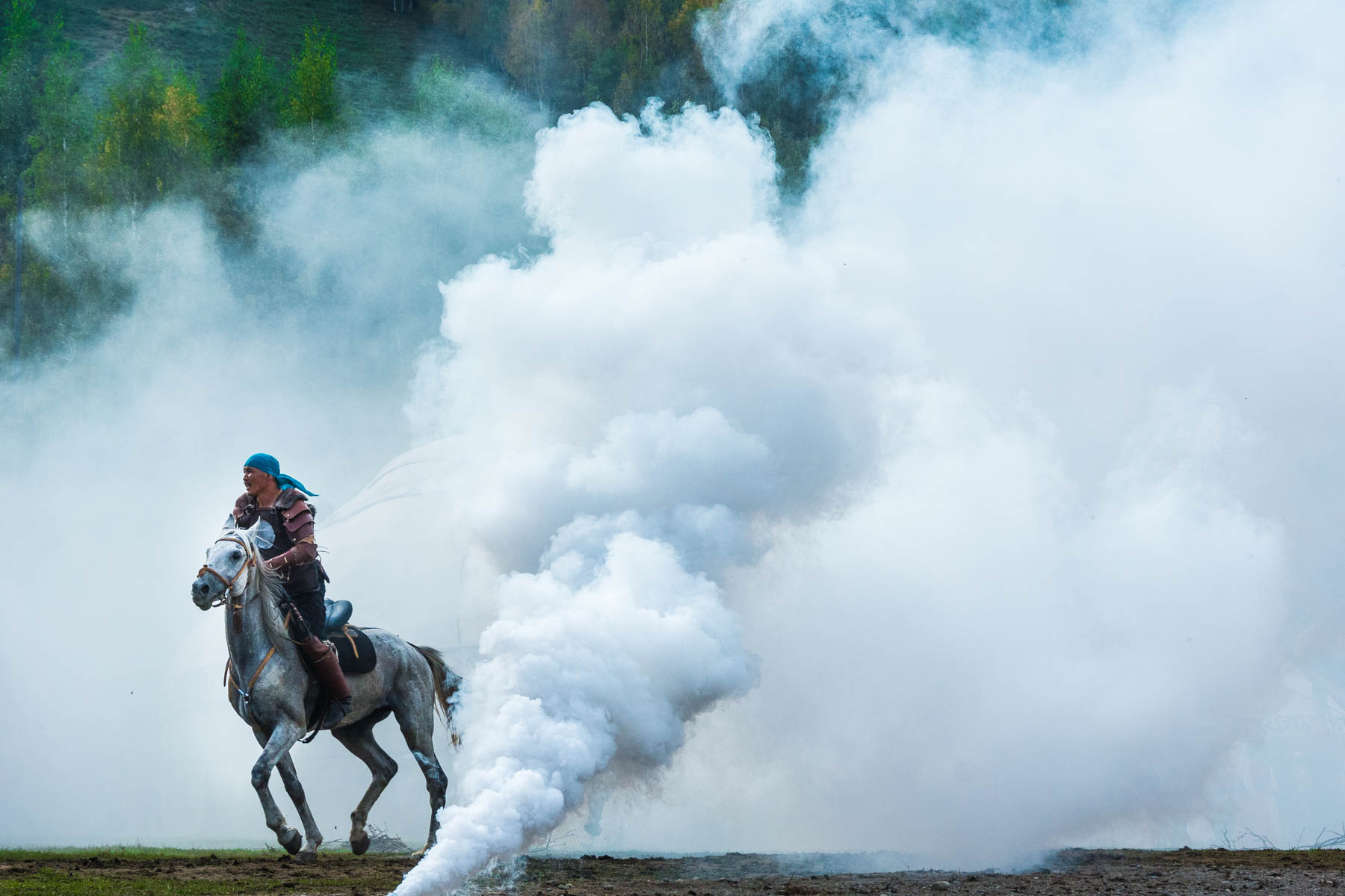 Smoke effects at the 2016 World Nomad Games - Lost With Purpose