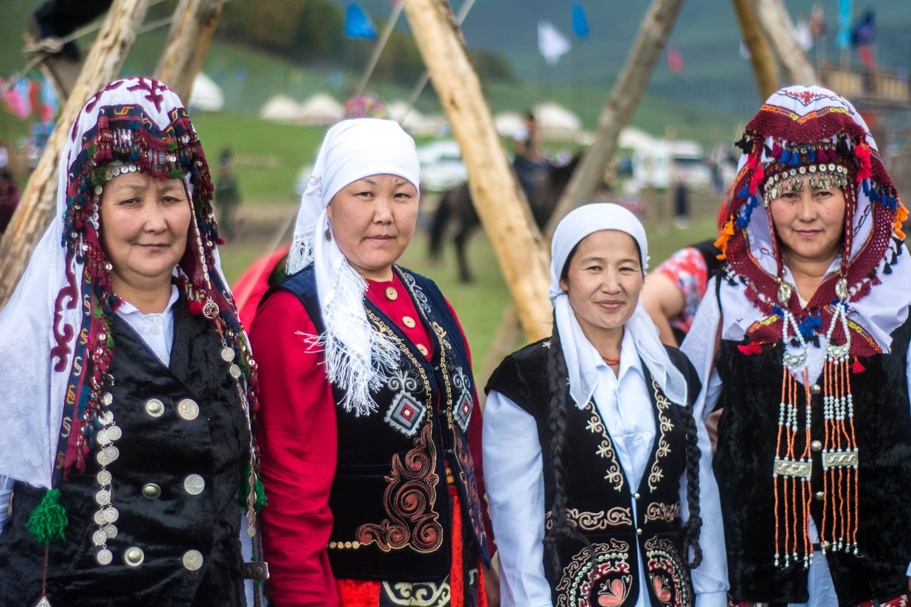 Women in traditional clothes at the 2016 World Nomad Games - Lost With Purpose