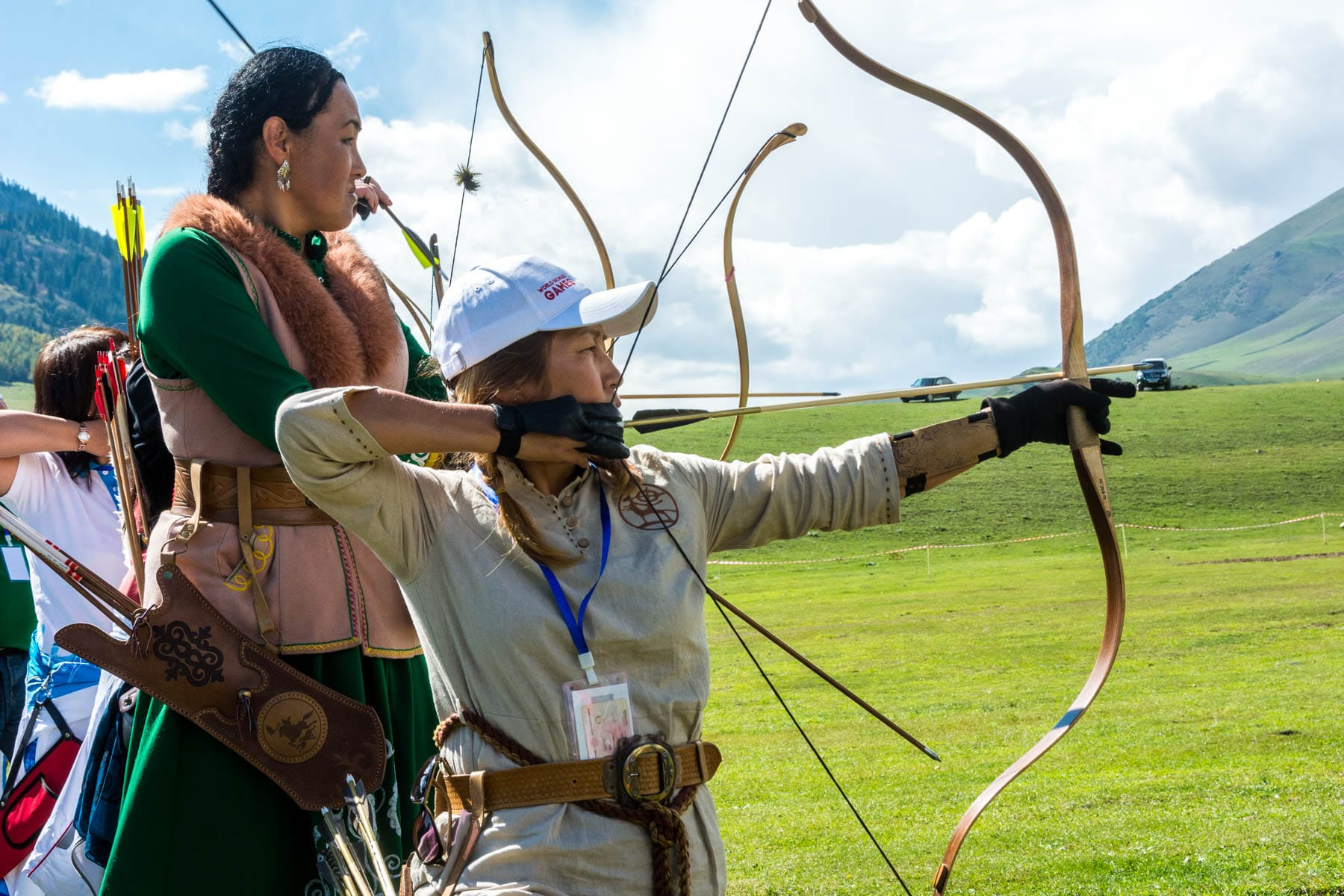 Women doing archery at the World Nomad Games in 2016 - Lost With Purpose