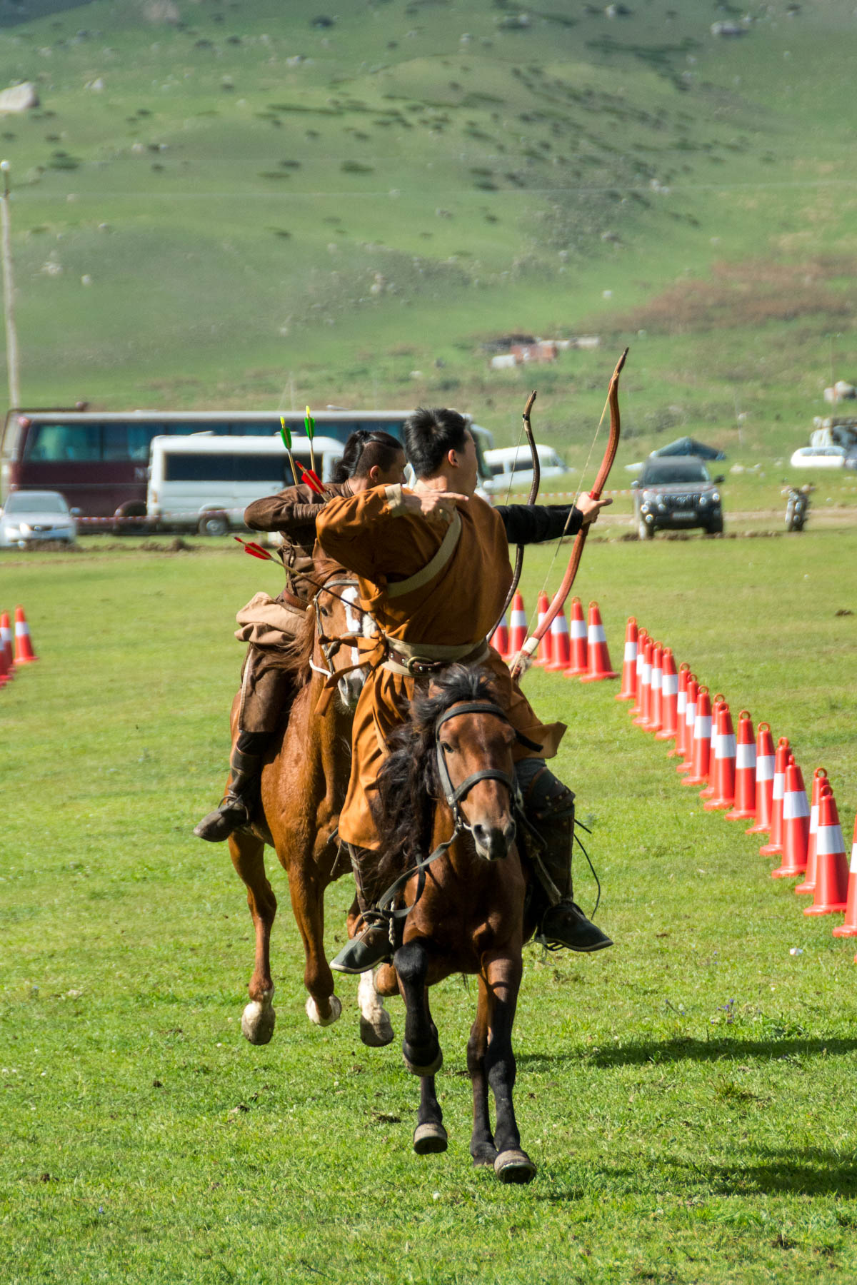 Horseback archery at the World Nomad Games in 2016 - Are the 2018 World Nomad Games worth the trip? - Lost With Purpose