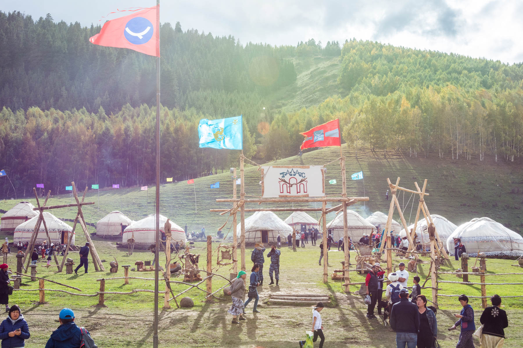 A yurt camp representing a specific region of Kyrgyzstan at the 2016 World Nomad Games - Lost With Purpose