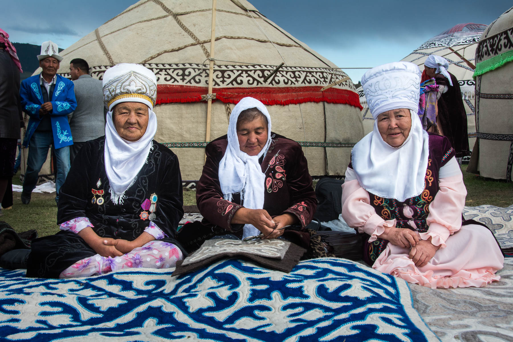Old women in traditional Kyrgyz clothes - Are the 2018 World Nomad Games worth the trip? - Lost With Purpose